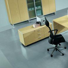 Zeta-X Cabinet - Mobile di servizio per ufficio, in legno impiallacciato, disponibile in diverse dimensioni e finiture