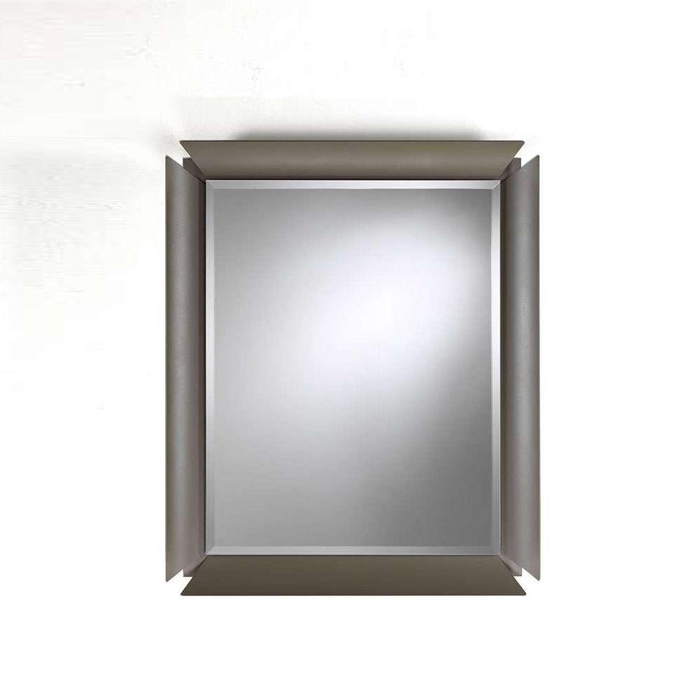Due: Mueble de entrada con 2 cajones, espejo y repisa de cristal ...