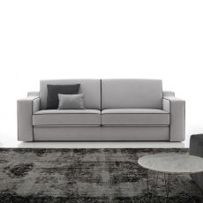 Joan - 2 or 2XL seater sofa, totally removable covering, different upholsteries and colors available, reclining backrest