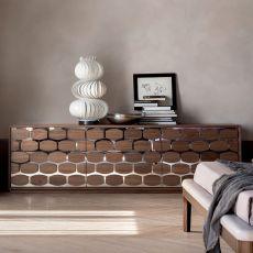 6117 Honey Night - Tonin Casa wooden dresser, 214 x 48 cm
