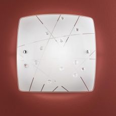 FA3144 - Lámpara de techo en metal y cristal, en distintas medidas
