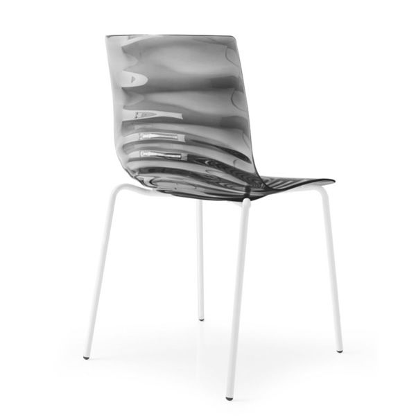 ... CB1273 Lu0027Eau   Chair With Optic White Metal Frame (not Stackable Chair)  ...