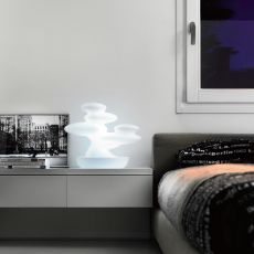 Bonsai - Design furnishing item - table lamp made of technopolymer, different colours available, for outdoor