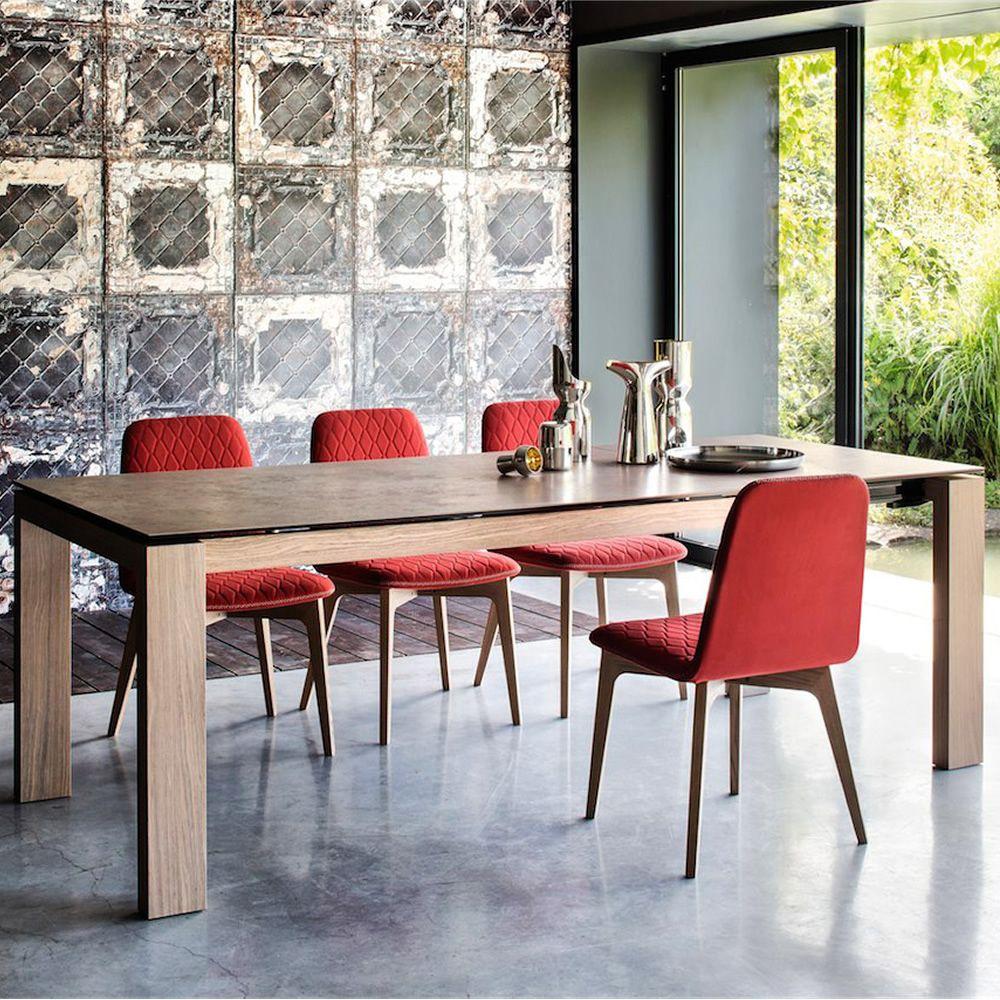 Cb4069 lv 160 sigma tavolo connubia calligaris in legno piano in vetro o ceramica 160 x 90 - Tavolo vetro allungabile calligaris ...