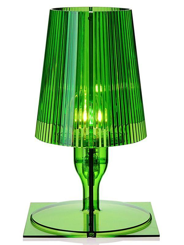 Take lampada da tavolo kartell in policarbonato in diversi colori sediarreda for Lampada da tavolo verde