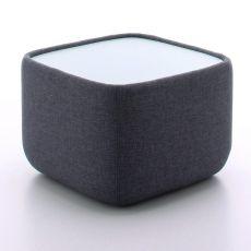 Teeny 7337 Promo - Nachttisch Tonin Casa mit Stoffbezug in der Farbe Blue Jeans, mit LED-Innenbeleuchtung - Im Angebot