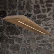 Blade - Lampada a sospensione in legno massello di rovere, LED