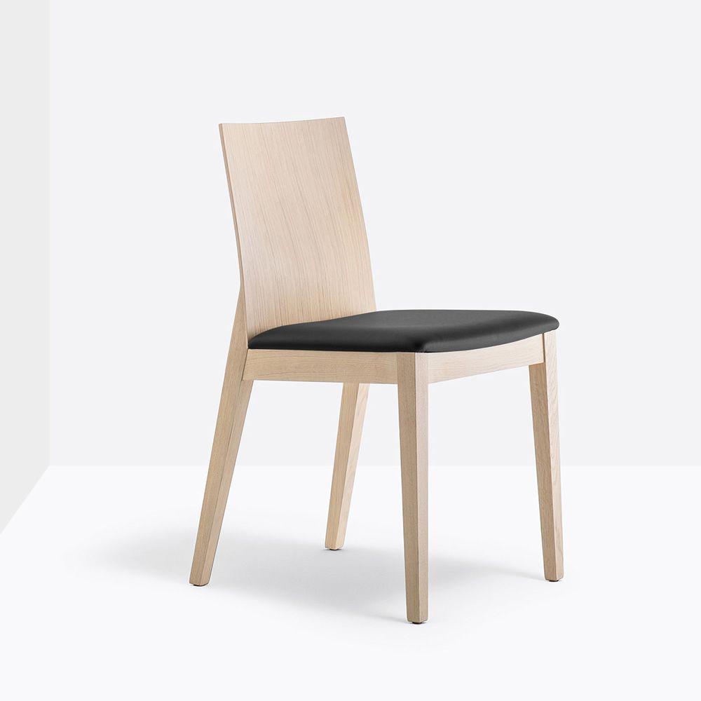 Twig 429 sedia pedrali in legno di rovere con seduta imbottita sediarreda - Sedia di design ...