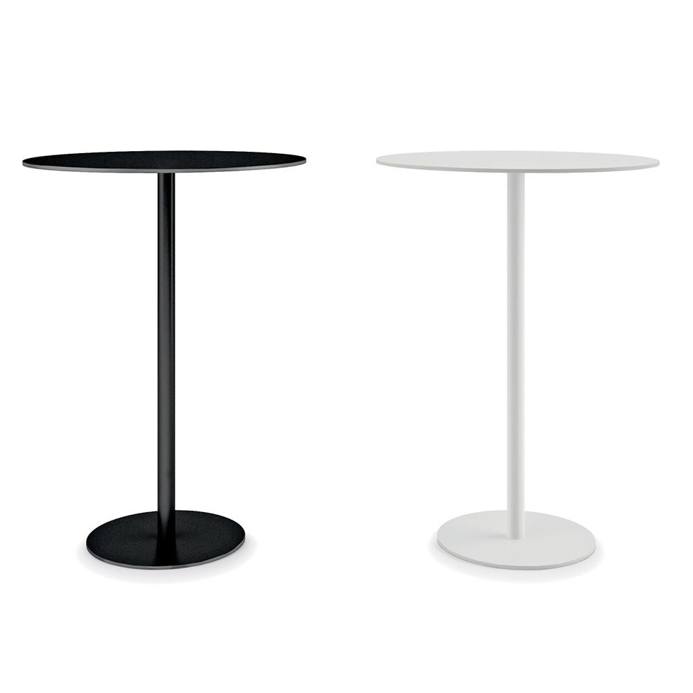 Round For Bars And Restaurants Metal Table In Metal