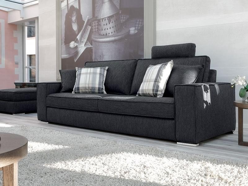 Simba divano moderno a 2 posti 3 posti o 3 posti maxi - Divano con mobile incorporato ...