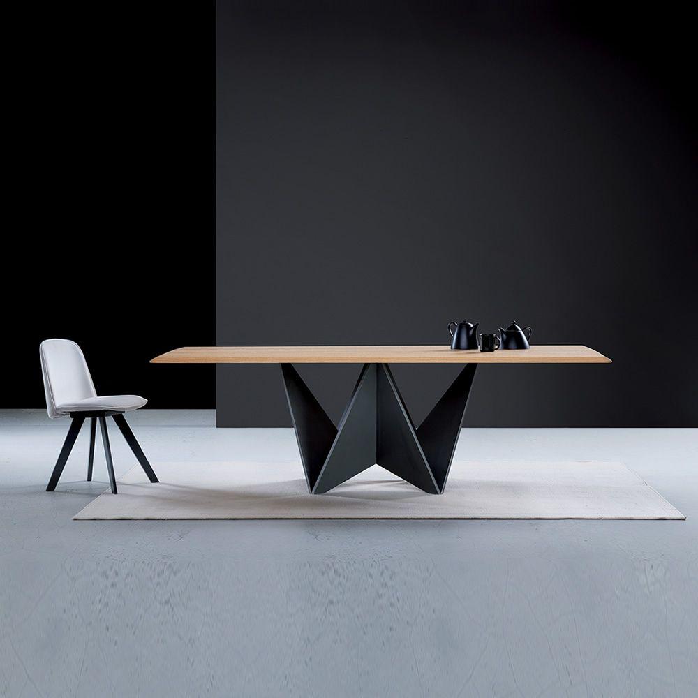 Origami tavolo moderno in legno piano in legno for Tavolo in legno d ulivo