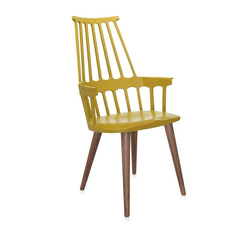 Comback 5954 sedia kartell di design in legno e for Sedia di design