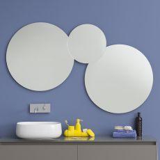 Acqua C - Composition de miroirs en forme ronde disponible avec éclairage à LED
