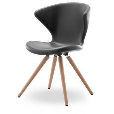 Concept W - Sedia design di Tonon, in legno e poliuretano, diversi colori