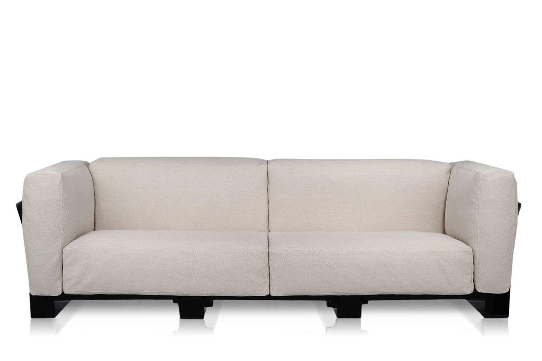 pop duo sofa canap design kartell 3 places structure en polycarbonate rev tement en tissu. Black Bedroom Furniture Sets. Home Design Ideas