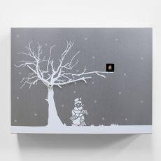 Cùcùrùkù Xmas - Orologio da parete a cucù, in legno, con disegno natalizio