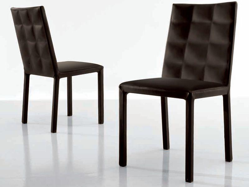 Colette 7281 sedia tonin casa interamente rivestita in for Sedie in similpelle