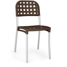 Alaska - Metal chair with resin seat and backrest, stackable, several colours, also for garden