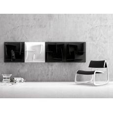 Arigatò - Libreria di design modulare Infiniti, in tecnopolimero, diversi colori