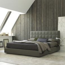 Vittoria - Padded double bed, several coverings available, removable covering, also with storage box