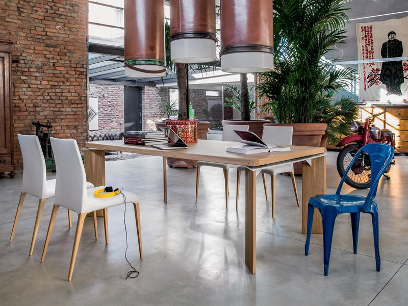Roma 8068 verl ngerbarer tisch tonin casa aus holz oder for Tisch aus marmor