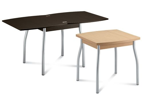 Kendo 80 tavolo domitalia in metallo piano melaminico for Tavolo allungabile 80x80