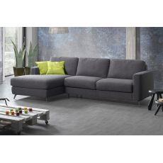 Fiordaliso-A - Divano a 2, 3 posti o 3 posti XL, con penisola, completamente sfoderabile, diversi rivestimenti e colori disponibili, anche divano letto