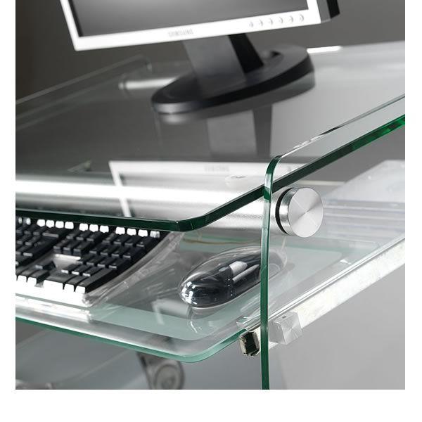 Computertisch Aus Glas ~ Clear computertisch aus metall ablagen und