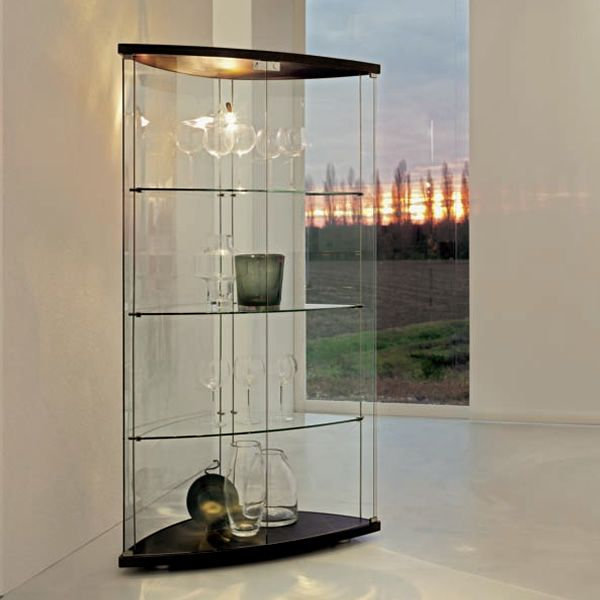 Grac u00eca 6430 Vitrine Tonin Casa en bois et verre, en différentes couleurs, avec LED Sediarreda # Vitrine En Bois Et Verre