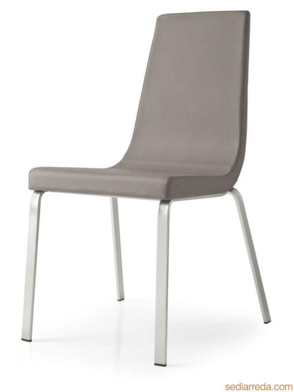 cb1095 cruiser stuhl connubia calligaris aus metall mit sitz aus stoff oder leder bezogen. Black Bedroom Furniture Sets. Home Design Ideas