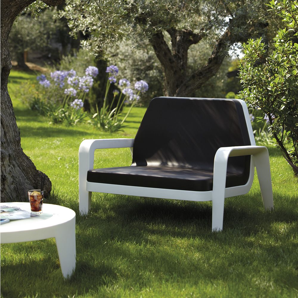 america doppelsessel slide aus polyethylen auch f r garten sediarreda. Black Bedroom Furniture Sets. Home Design Ideas
