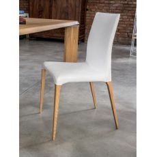 7209 Aragona - Tonin Casa chair with wooden legs, leather, fabric or imitaion leather covered