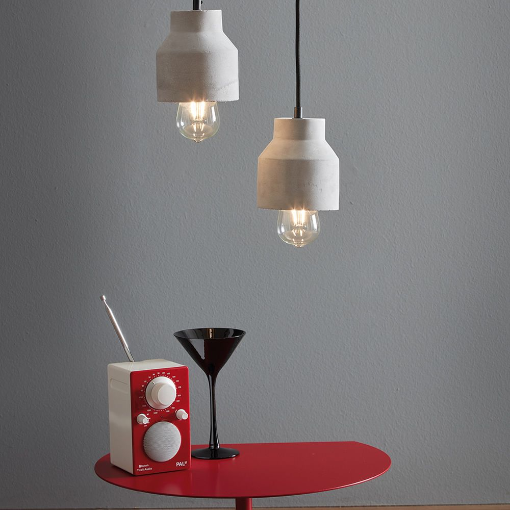 Tatius promo lampe suspension design en ciment alleg for Lampe suspension design