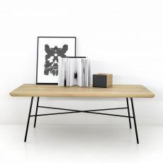Disc-T - Tavolino Universo Positivo in metallo con piano in legno