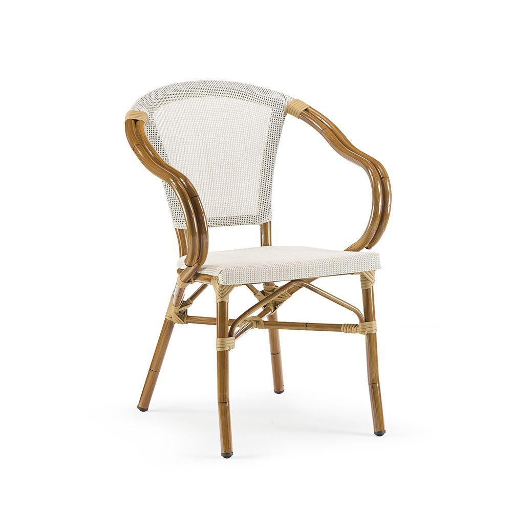 tt950 fauteuil empilable en aluminium et textil ne pour le jardin sediarreda. Black Bedroom Furniture Sets. Home Design Ideas