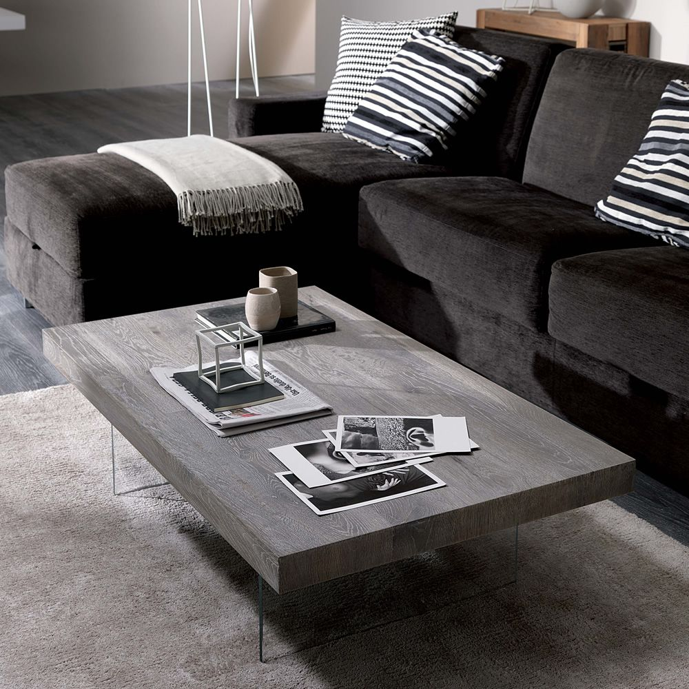 Bellagio two height transformable coffee table in metal - Table salon modulable hauteur ...