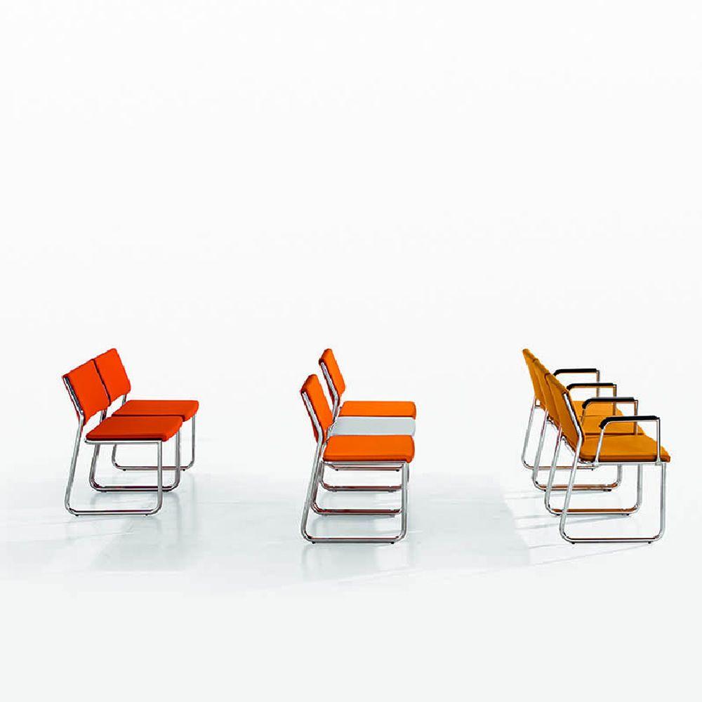 colette chaise de salle d 39 attente ou de conf rence structure en m tal assise et dossier. Black Bedroom Furniture Sets. Home Design Ideas