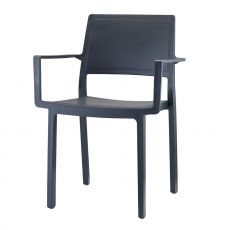 Kate 2340 - Technopolymer bar chair with armrests, stackable, available in several colours, for outdoor