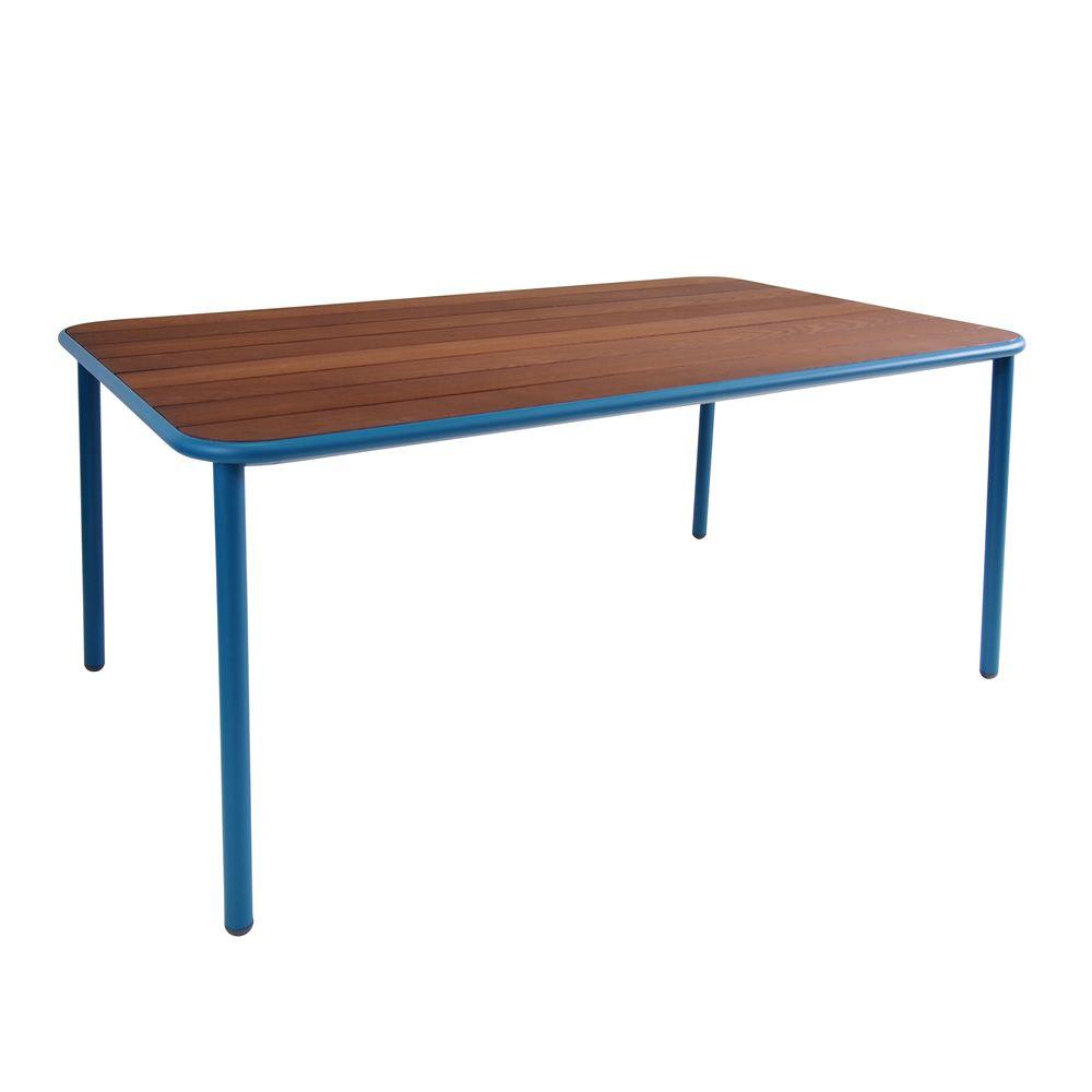 yard t4 table basse emu en aluminium plateau en fr ne 160x97 cm fix ou rallonge disponible. Black Bedroom Furniture Sets. Home Design Ideas