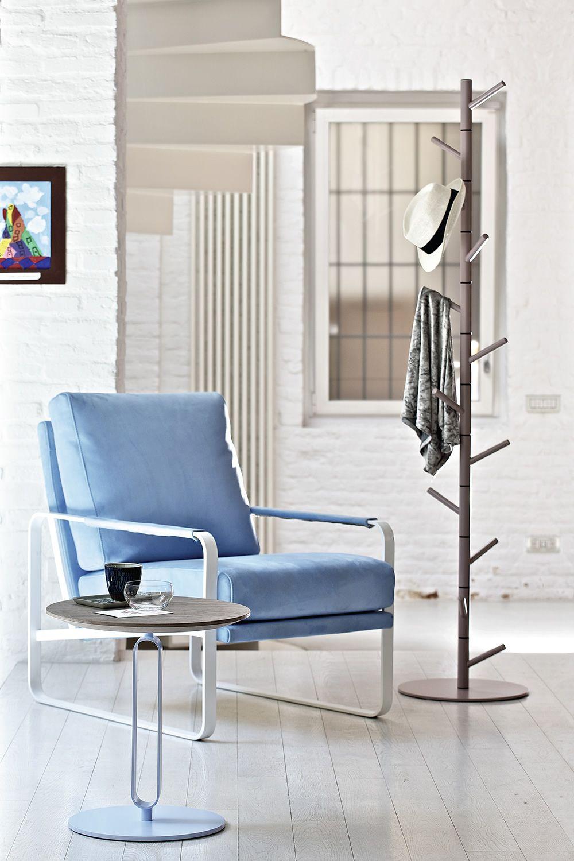 Alfred - Tavolino da salotto desing Bontempi Casa, con struttura in acciaio l...