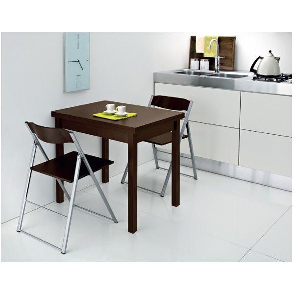 Hot m tavolo domitalia in legno e melaminico 80 x 60 cm for Tavolo wenge