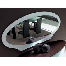 Akalla 7503 - Elliptischer Spiegel Tonin Casa mit Rahmen aus Glas, in verschiedenen Farben verfügbar