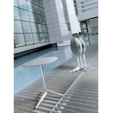 4790T Ypsilon - Basamento in alluminio per tavolo da bar o ristorante, reclinabile, disponibile in diverse dimensioni e colori, anche per esterno