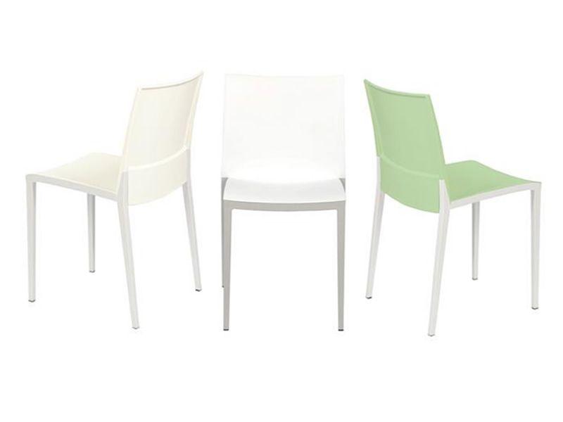 Over sedia bicolore impilabile in tecnopolimero adatta per l