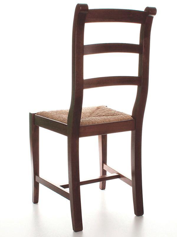 Mu84 pour bars et restaurants chaise rustique en bois - Chaise rustique bois et paille ...