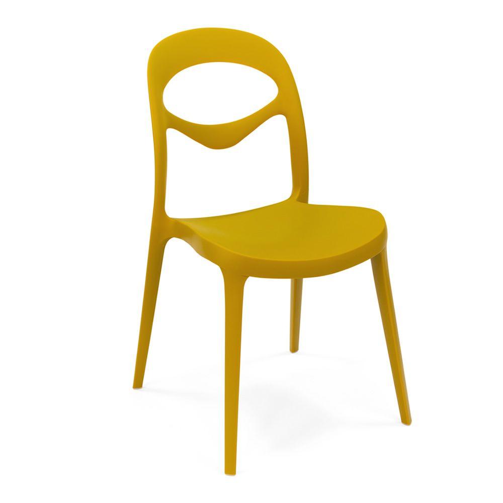 Foryou chaise empilable domitalia en polypropyl ne en for Chaise jaune moutarde