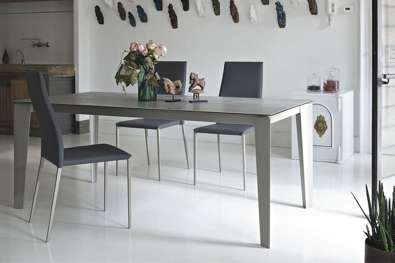 Cruz designer tisch bontempi casa aus metall platte 140 for Designer tisch 140