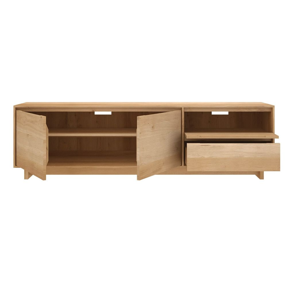 Wave tv mueble para tv ethnicraft de madera en distintas for Medidas para muebles