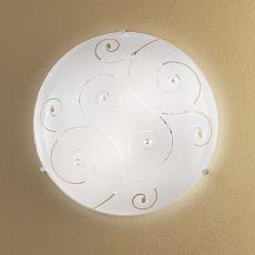 FA3138 - Lampe de plafond en métal et verre, disponible en différentes dimensions