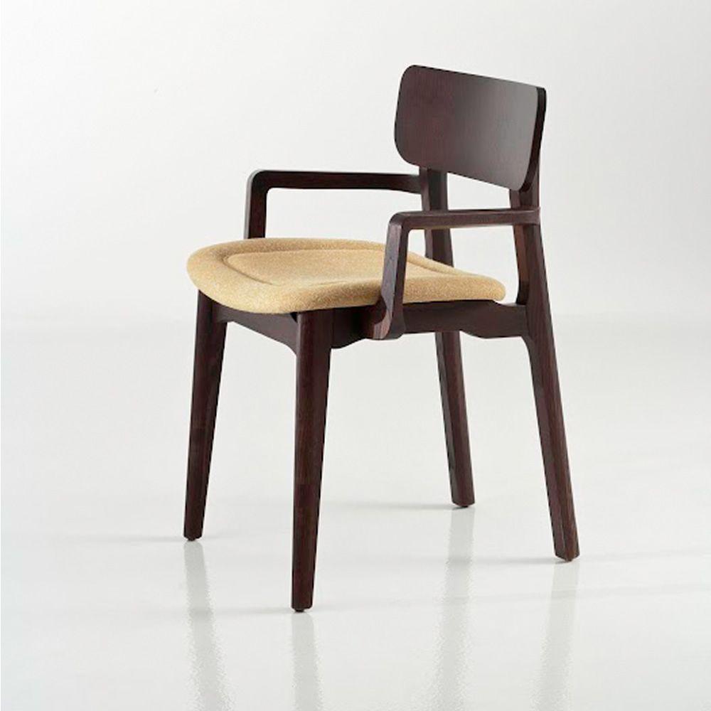 Cacao soft sedia di design chairs more in legno con - Sedia imbottita con braccioli ...